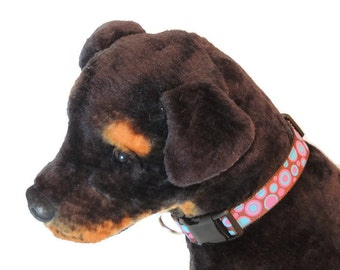 Large Pink/Blue Circles Dog Collar