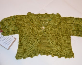 1 - 2 Years Old Girls' Green Cardigan