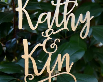 Personalized MR&MRS Wedding Cake Topper, Wedding Cake Decor,  Topper names - Champadne gold color - Wedding Gift, Rose gold cake