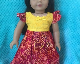 "18"" hawaiin style sundress/matching shoes"