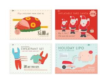 Christmas Postcard 4 Pack