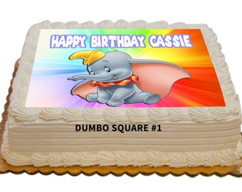 Dumbo Personalized Edible 8.5x11 inch Birthday Cake Topper