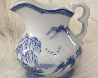 Blue Willow Pitcher Etsy