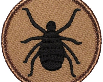 Tick Patch (472) 2 Inch Diameter Embroidered Patch