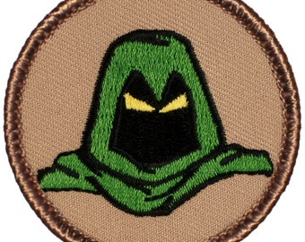 Green Phantom Patch (550A) 2 Inch Diameter Embroidered Patch