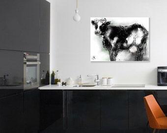 Cow painting // cow print // A3 print // digital art print // cow art // cow art print // kitchen decor // modern art print // cattle print