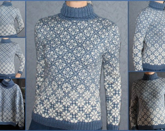 WOMAN'S Hand knit sweater for you A soft pullover will keep you warm and cozy in the cold weather hand knitted jumper.