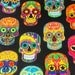 Sugar Skull Fabric Mexican Fabric Day of the Dead Fabric Quilt Fabric Craft Fabric Cotton Fabric Curtain Fabric Table Runner Pillow Fabric