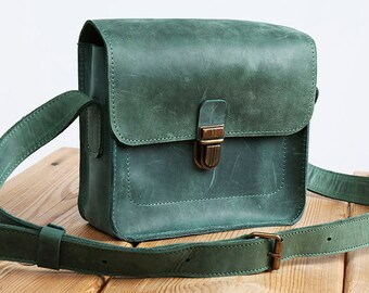 Turquoise crossbody bag leather handbag green handbag emerald clutch woman handbag handmade bag modern handbag original handbag mini bag