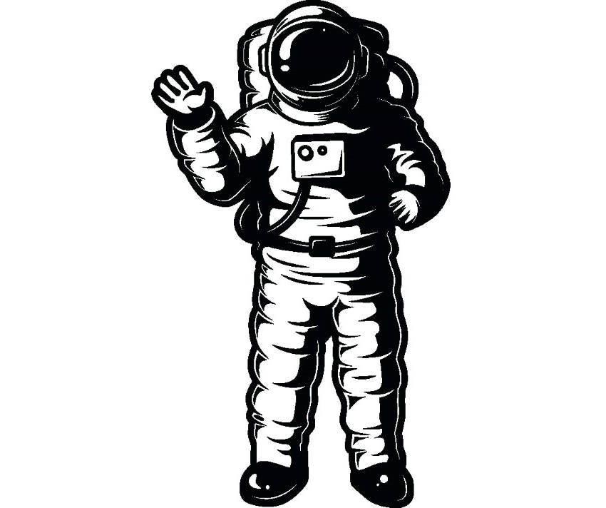 cosmonaut space suit silhouette - photo #18