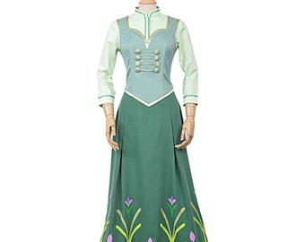 Anna Fever Dress Anna Cosplay Dress Princess Anna Dress Anna Cosplay Costumes