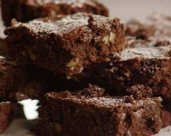 Brownie baking mix kit - Healthy Chocolate - dairy grain gluten free low calorie - raw organic cacao low saturated fat no added sugar  vegan