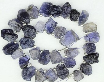 31 piece IOLITE raw rough beads 12 -- 18 mm approx