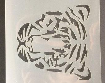 Tiger Head Stencil