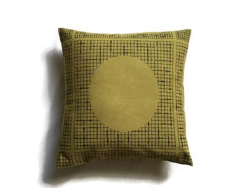 Retro Style, Mustard and Black, Geometric Design, 1980's Kitsch, Retro Cushion, On Trend, Stylish, Throw Pillow - SALE ITEM