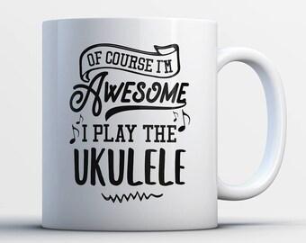 Ukulele Gifts - Funny Ukulele Player Mug - Ukulele Coffee Mug - I Play The Ukuleles - Best Gifts for Ukulele Players