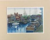 Bowen's Wharf in Summer, Newport