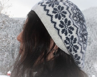 hat with Norwegian pattern