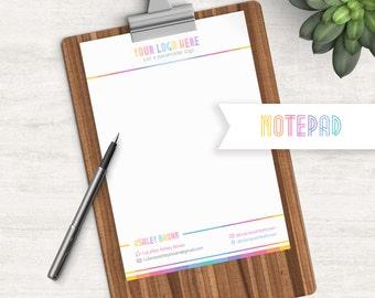 Notepad, Free Personalization, Digital File, Clean Design