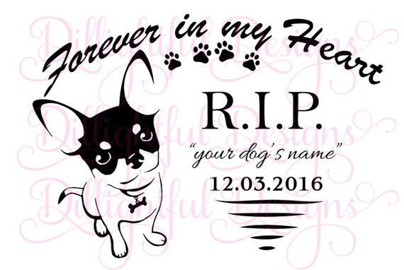 Download SPECIAL - R.I.P. Chihuahua SVG DOG Rest in Peace My ...