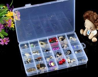 Storage Box, Storage Box With Lid, Craft Organizer, Storage Box System, Jump ring storage, Organizer Box, jewelry Tools Beads ,one pc,PEA19