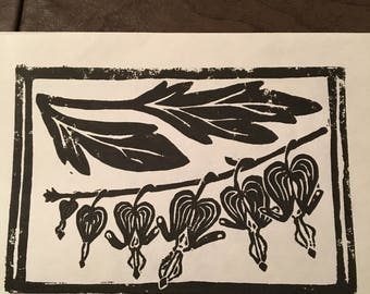 Bleeding Heart Block Print Cards