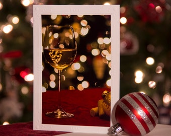 Photography cards, Photography Note Cards, Blank Note Cards, Photography Note Card, Greeting Cards, Christmas Card, holiday card, wine glass