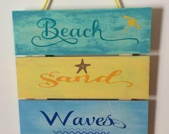 Beach Theme Wood Plaques