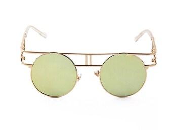 Gold Vintage Inspired  Sunglasses