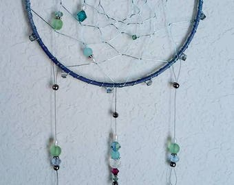 Starfish Ocean Dream Catcher, 5 x 14 Blue Green Purple