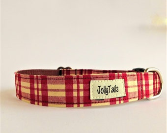 Plaid dog collar cute Country dog collar for small dog Cat collar Pet collar Large dog collar Designer dog collar for dogs Buckle dog collar