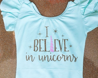 Unicorn leotard - toddler leotard - girls leotard - child leotard - gymnastics leotard - dance leotard-  Custom leotard - unicorn outfit