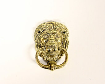 APA brass Lion Door Knocker-Edwardian-Victorian-