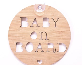 Baby On Board sign for Car-wooden sign-kids gift-baby gift-lasercut-mother's day-newborn-decor-wall hanging