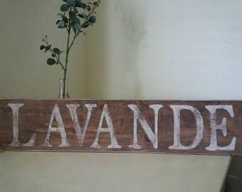 French Country Lavender Sign - Hand-painted - Lavande