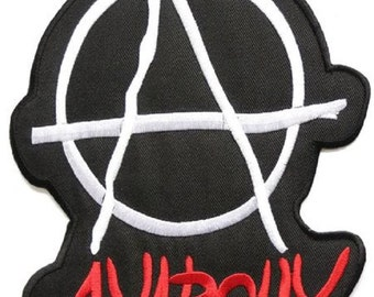 "Anarchy Punk Rock Logo Embroidered Big XL Back Patch 8"""