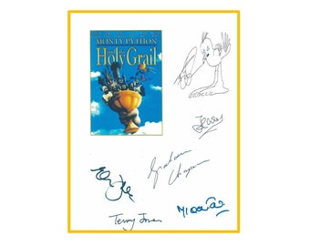 Monty Python And The Holy Grail Script Signed Rpt -  Graham Chapman, John Cleese, Eric Idle, Michael Palin, Terry Jones, Terry Gilliam,