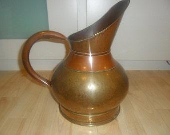 brass copper jug