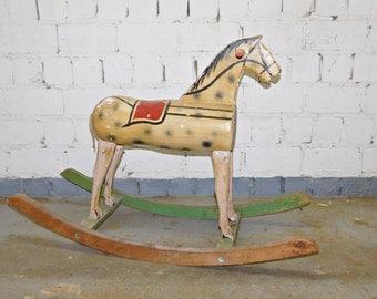 Antique rocking horse around 1900