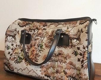 Vintage Floral Holdall Bag
