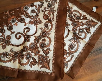 Lovely vintage brown and cream scarf