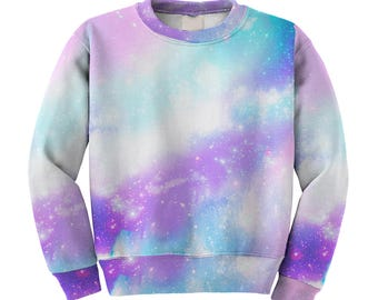 Pastel Galaxy Sweater Space Sweatshirt Pastel Universe Original Print **MTO Month Sz XS-3XL Men, Women, Kids**