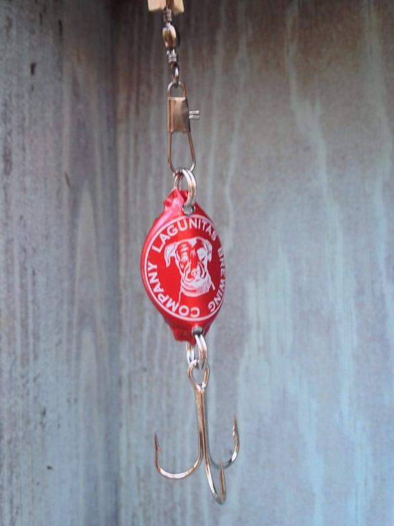 Bottle Cap Fishing Lure (Red Lagunitas)