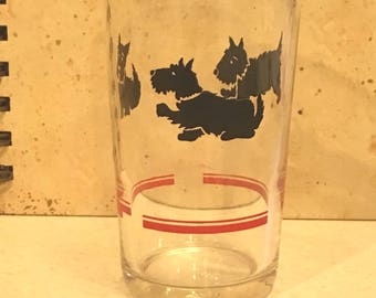 Scotty Dog Orange Juice Glass