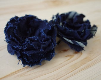 set of 2 pins, brooches, Japanese old cotton, corsages, flower corsages