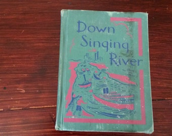 Down Singing River second grade textbook, vintage school book, 1953 school book
