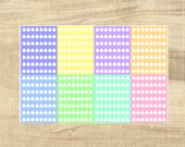 56 Multi-coloured Pastel Daily Hydrate Stickers for Erin Condren LifePlanner