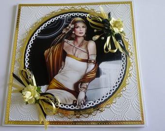 A Beautiful Art Deco lady Card