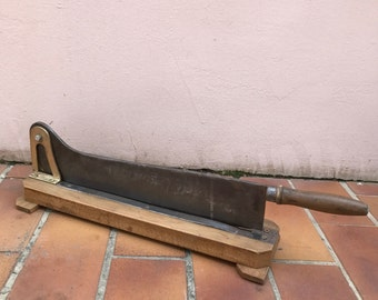 Vintage French Restaurant Wooden Bread Slicing Board old and big