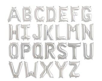 silver letter balloon 16 alphabet balloons silver balloons